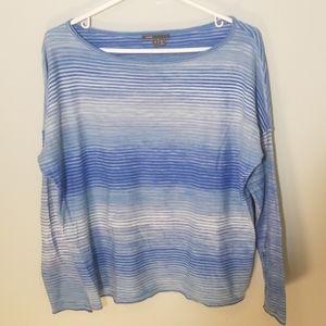 Vince Blue Striped Boatneck Sweater